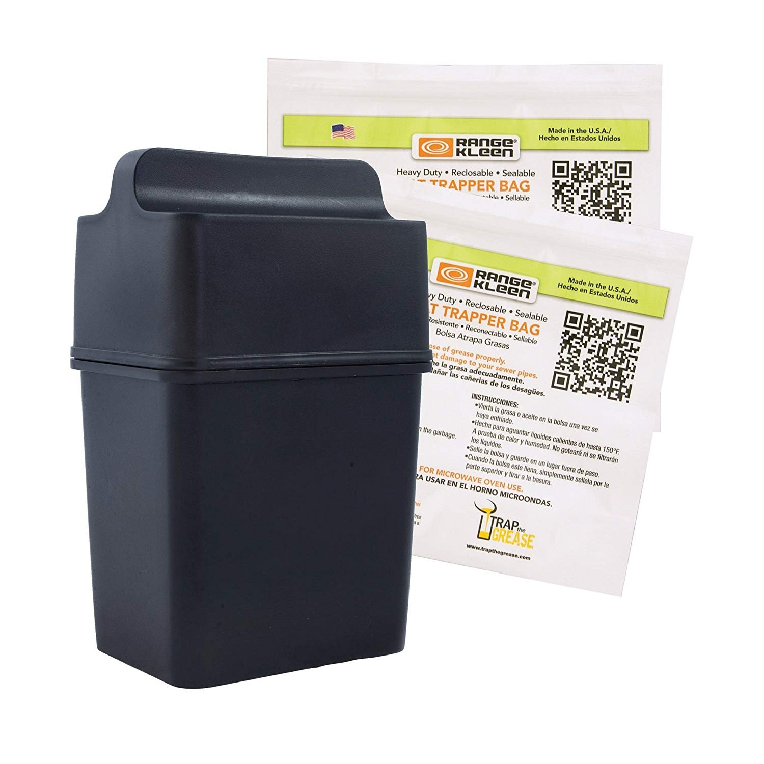 Amazon.com: Fat Trapper System/Grease Storage Container with TWELVE Disposable Grease Bags: Kitchen & Dining