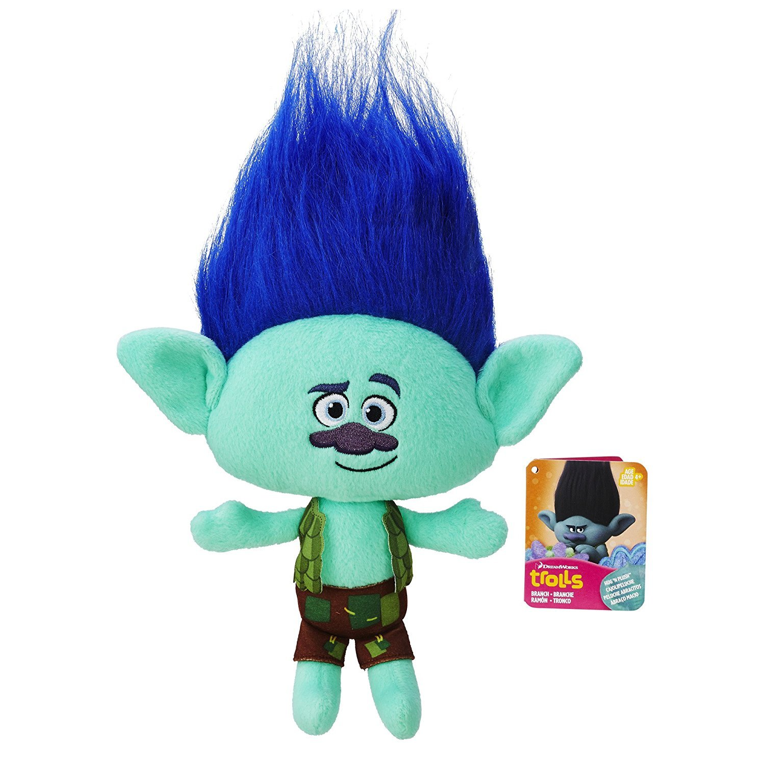 Amazon.com: Pack of 4 (Harper,Branch,Cooper, Guy Diamond) Trolls | DreamWorks Plush Toys ,Original,Official Licensed,(Harper:30cm/11.9