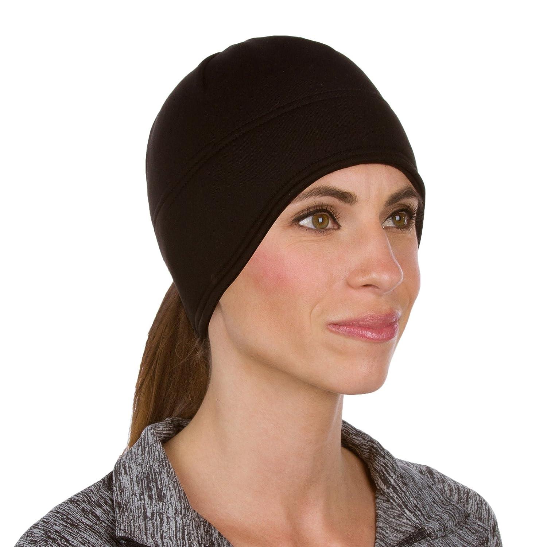 TrailHeads Runner/'s Ponytail Beanie for Women Contoured Fleece Winter Hat Performance Beanie