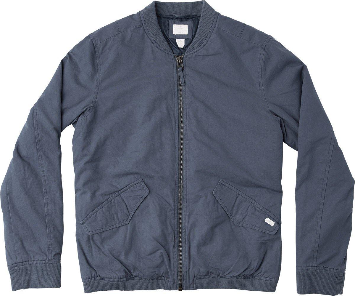 RVCA Men's All City Bomber Jacket, Dark Denim, 2XL