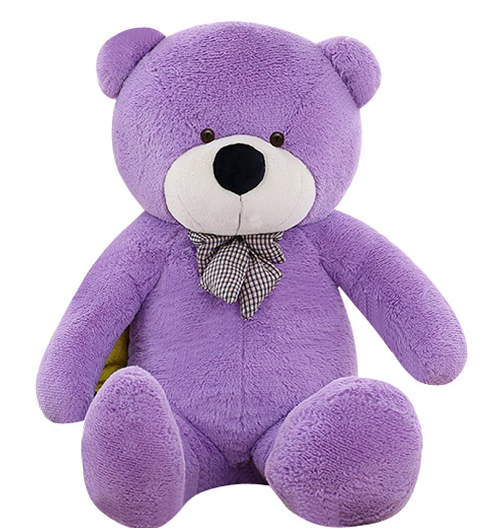 VERCART 4 Foot 47 inch Purple Giant Huge Cuddly Stuffed Animals Plush Teddy Bear Toy Doll by VERCART