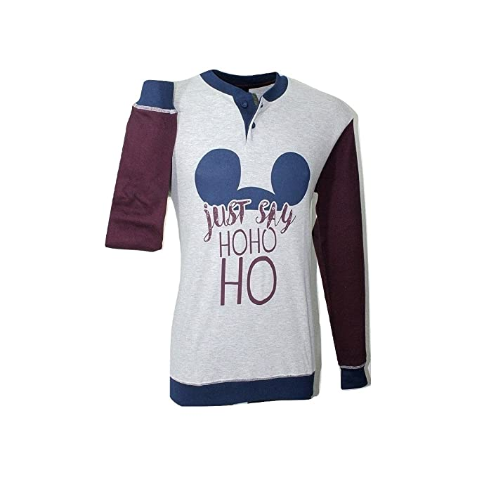 design di qualità 92d9a c39e6 Disney Pigiama Uomo Topolino Mickey Cotone Caldo Invernale SML-XL Grigio  14089
