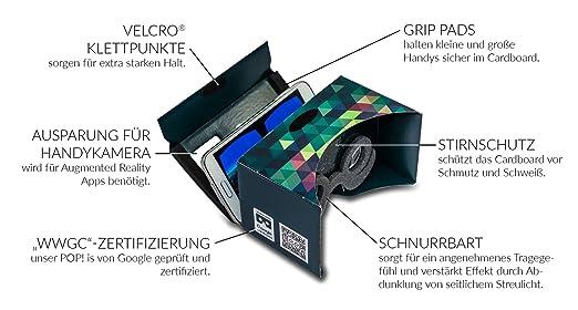 POP! CARDBOARD 3.0 + GRATIS Kopfband + Schnurrbart.: Amazon.de ...