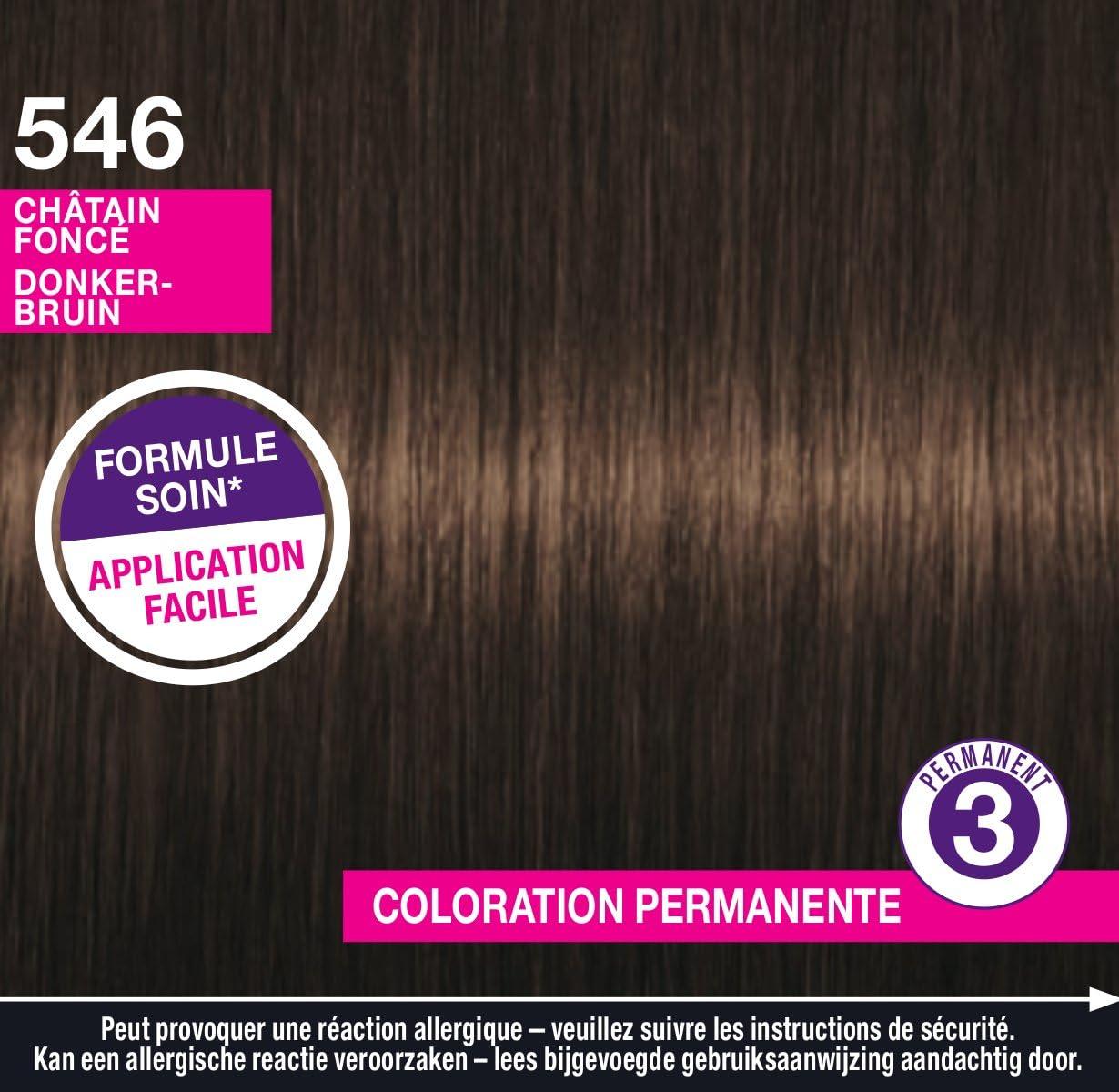 Schwarzkopf Perfect Mousse coloración permanente castaño oscuro 546.