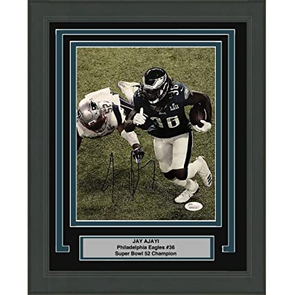 Image Unavailable. Image not available for. Color  Framed Autographed Signed  Jay Ajayi Philadelphia Eagles Super Bowl LII ... ed0d0f823