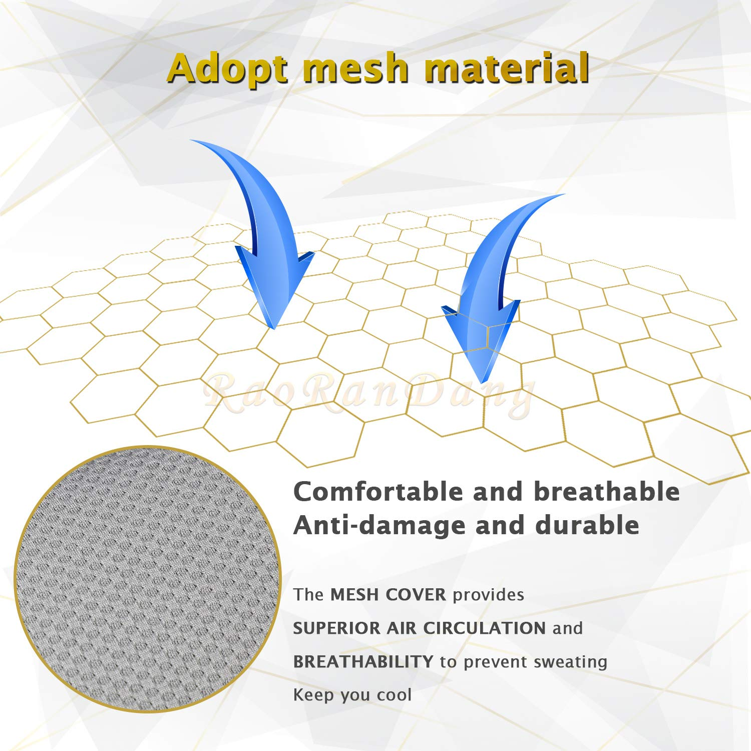 Car Seat Cushion Pad for Car Driver Seat Office Chair Grey Computer Chair with Non Slip Bottom Memory Foam Seat Cushion