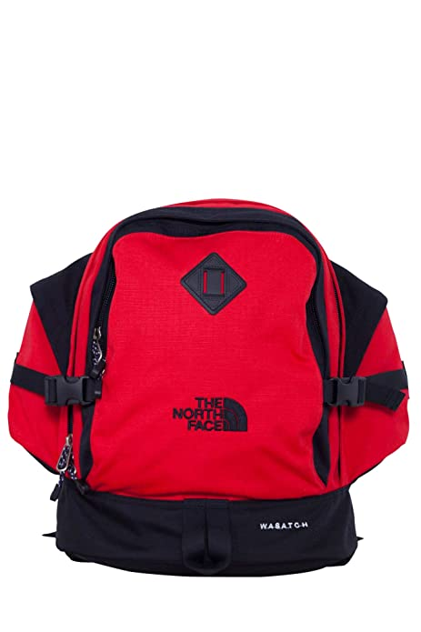 North Face Wasatch Reissue, Mochila Unisex Adultos, Rojo Red/TNF Black),