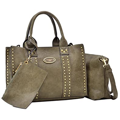 094f0d709880 Women Designer Vegan Leather Handbags Fashion Satchel Bags Shoulder Purses  Top Handle Work Bags  Handbags  Amazon.com