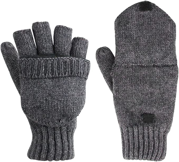 Damen Knit Halbe Finger Handschuhe Winter Fäustlinge Gestrickt Fingerlose,