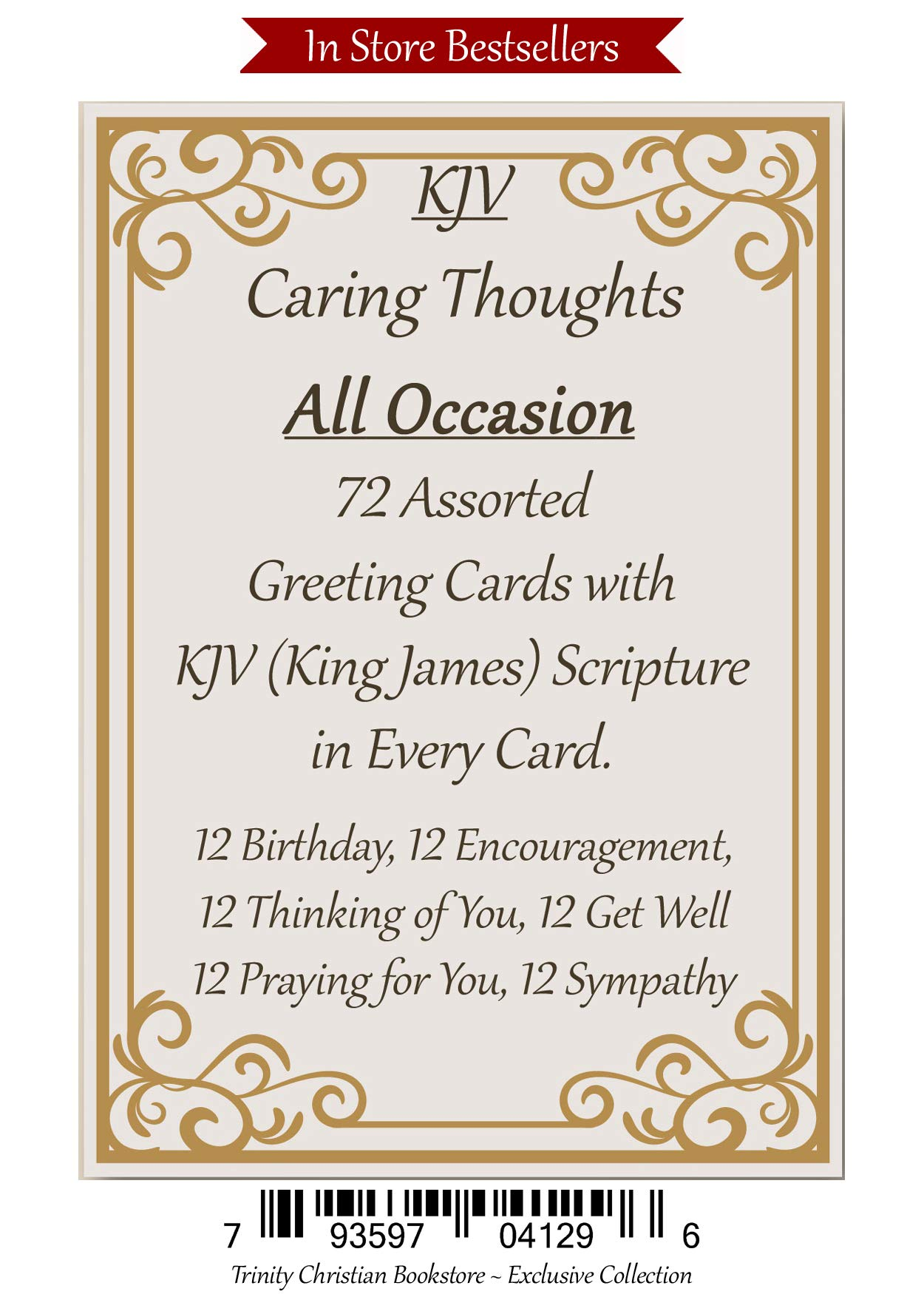 King James 72 ct KJV All Occasion Christian/Religious Greeting Card Asst. w/Scripture by Caring Thoughts