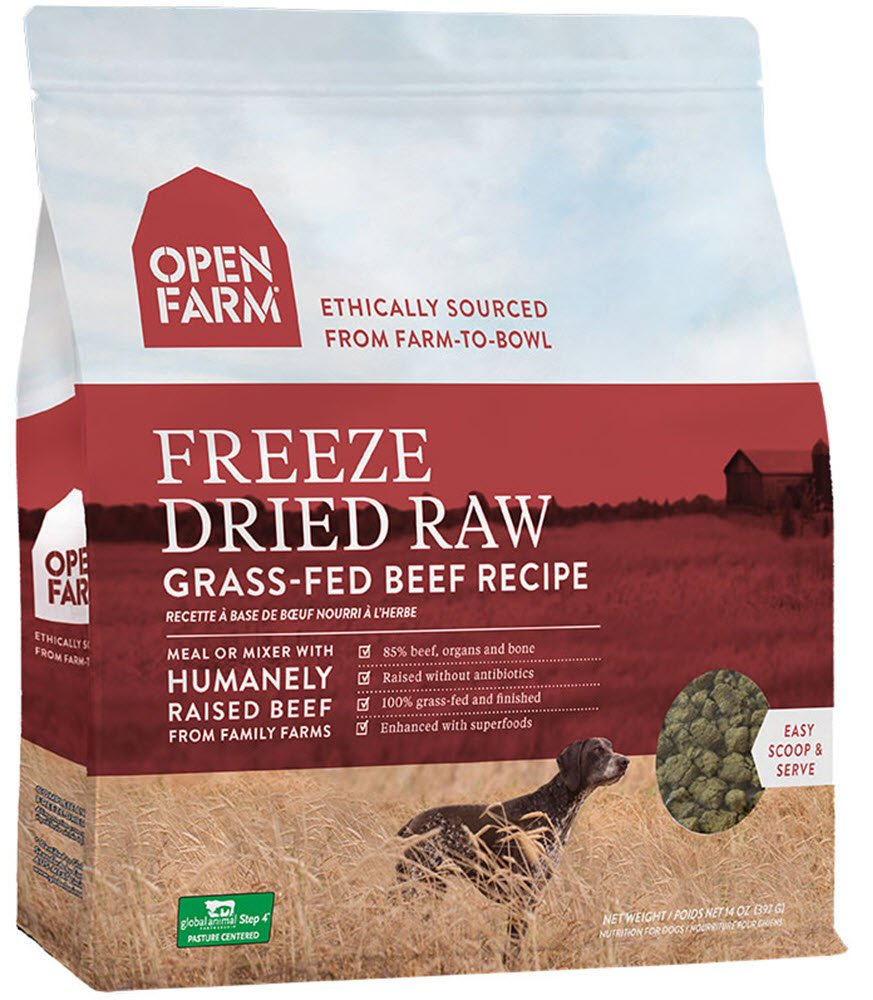 Open Farm Freeze Dried Raw Grain Free Dog Food 13.5 oz (Beef) by Open Farm