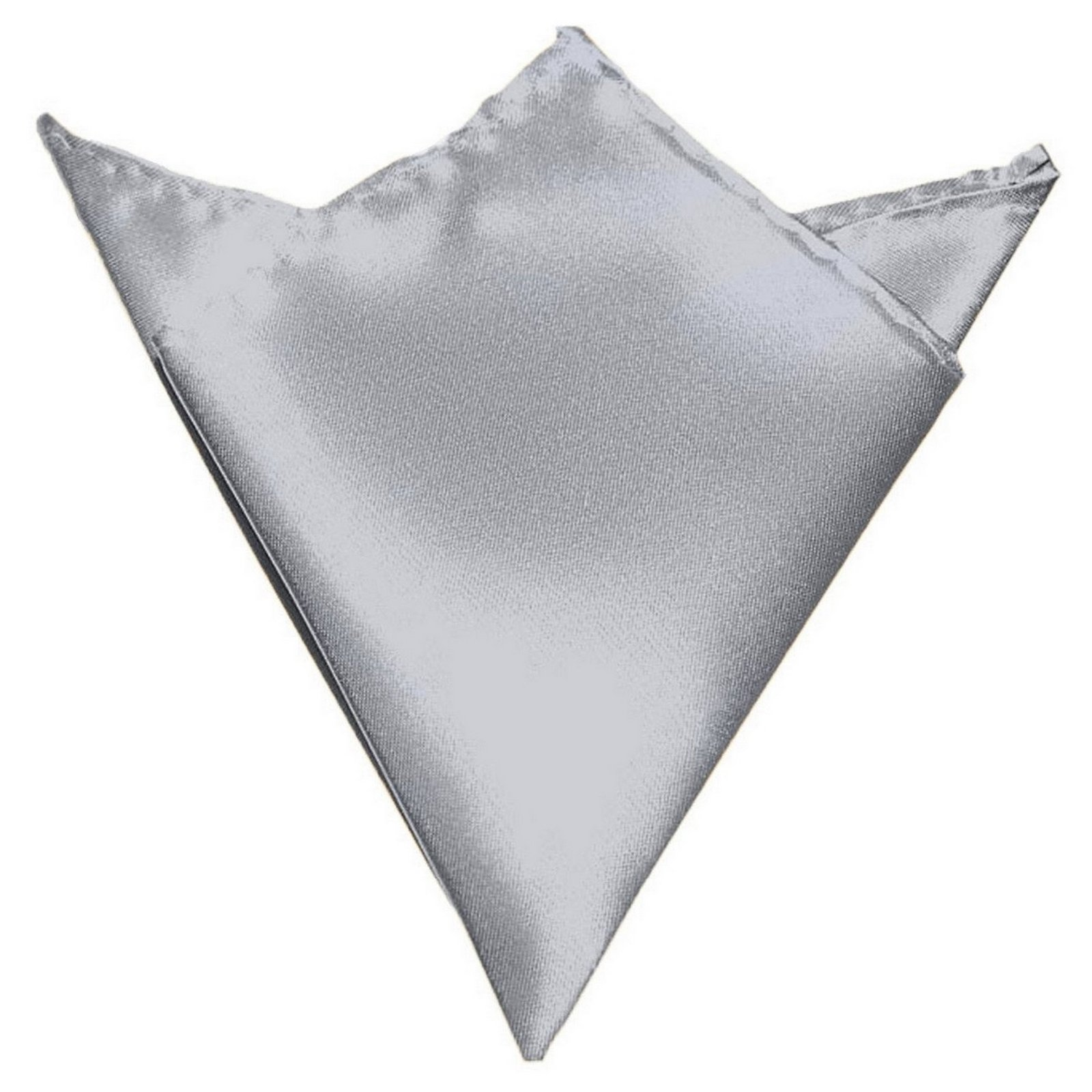 GASSANI Light Silver Gray Hanky Pocket Square Handkerchief Pocket Hanky by GASSANI (Image #1)