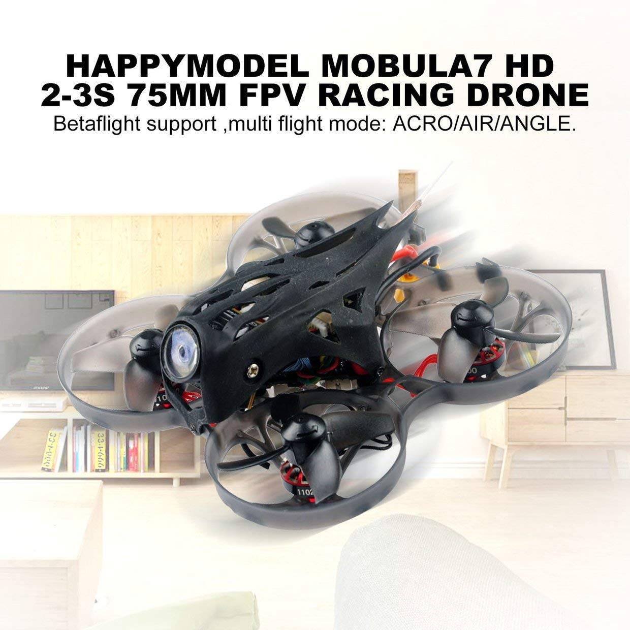 MXECO Happymodel Mobula7 HD 2-3S 75mm Crazybee F4 Pro Whoop FPV Racing Drone PNP BNF w  CADDX Turtle V2 HD Camera - Without Receiver