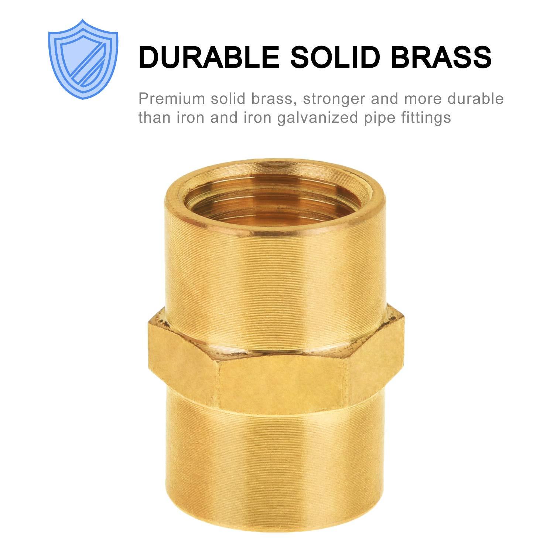 2-Pack Air Tool Fittings SUNGATOR Brass Air Fitting Pipe Fitting 1//4 x 1//4 Female Pipe Air Hose Fittings Coupling