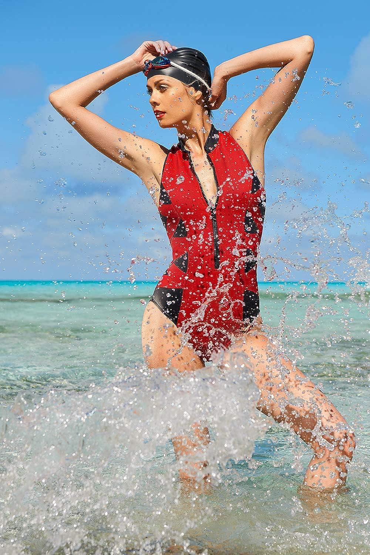 Magicsuit by Miraclesuits Women/'s Swimsuit Scuba Blake Black Rouge One Piece