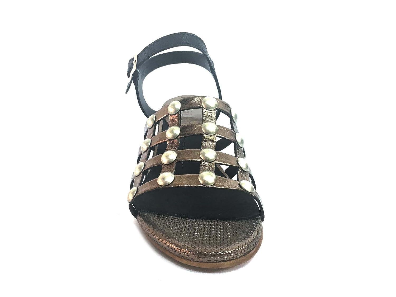 Dei colli ROSSO132 Taupe/Nero Scarpa Scarpa Scarpa Donna Tacco Sandalo Fabbrica Pelle Taupe 4dd828