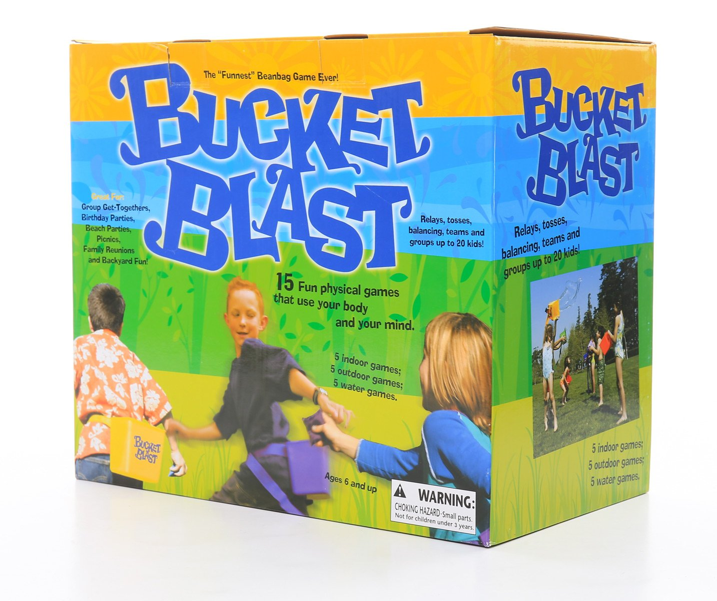 Zobmondo!! Bucket Blast   Award Winning Kids Game   Promotes Physical Activity Indoors and Outdoors