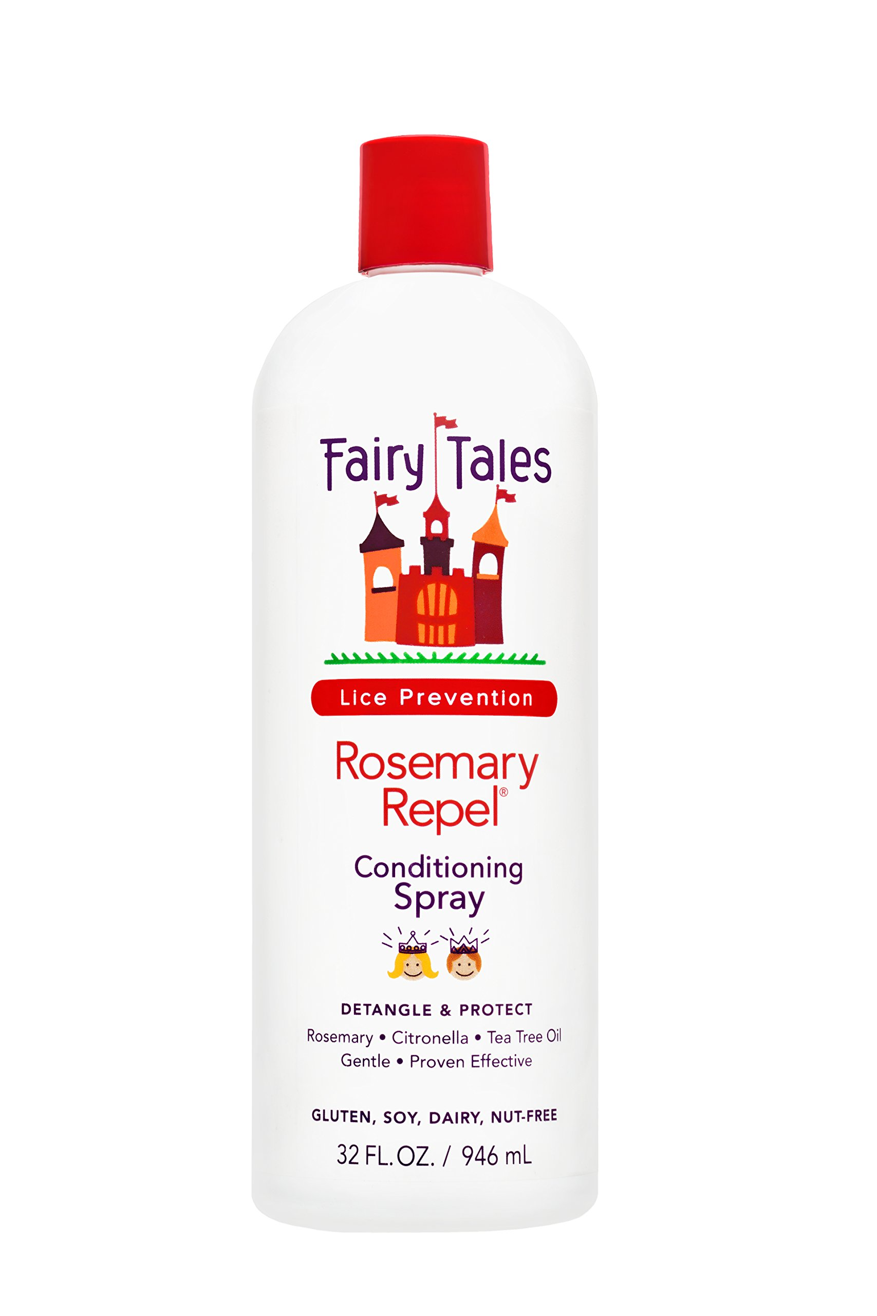 Fairy Tales Rosemary Repel Daily Kid Conditioning Spray Refill for Lice Prevention - 32 Fl. Oz