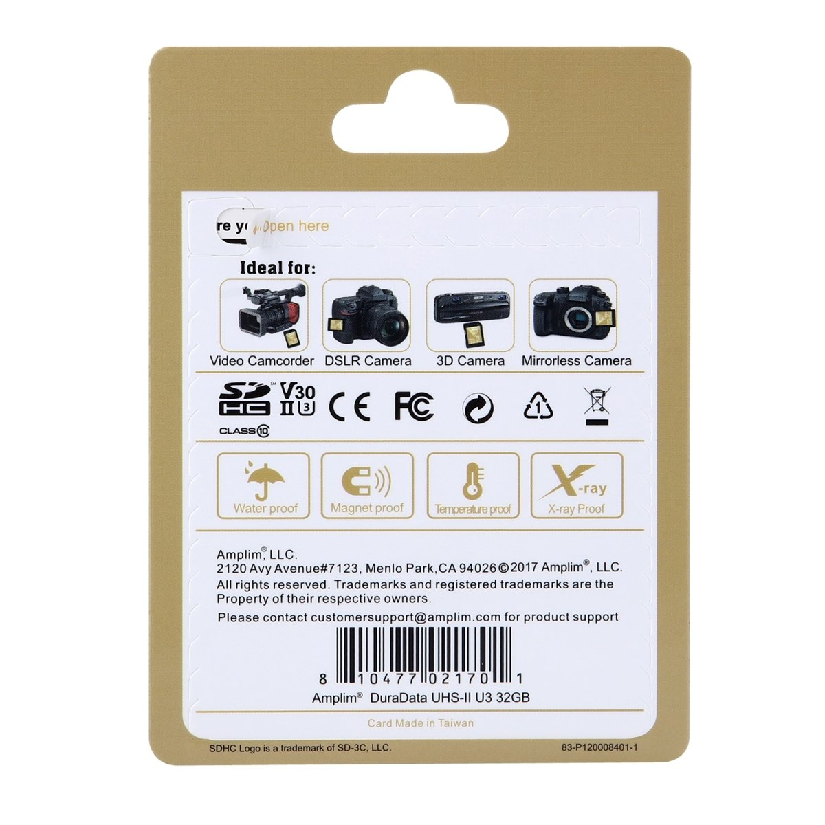 Amplim 32GB UHS-II SDHC SD Card Blazing Fast Read 285MB/S (1900X) Class 10 U3 Ultra High Speed V30 UHSII Extreme Pro SD HC Memory Card. Professional 4K Full HD Video Shooting 32 GB/32G TF Flash. New by Amplim (Image #6)