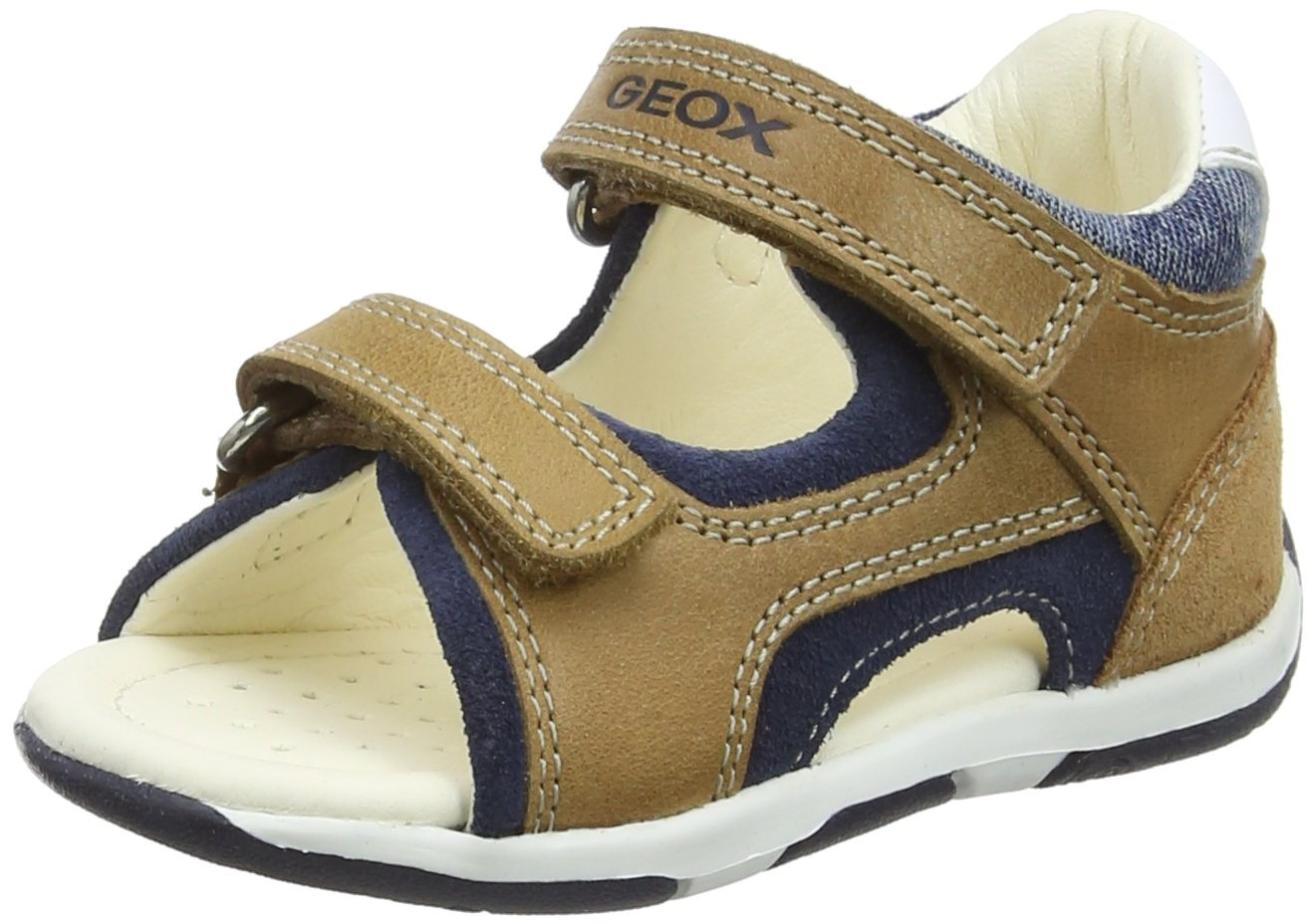Geox TAPUZ BOY 6 Sandal, Caramel/Navy, 25 M EU Toddler (8.5 US) by Geox