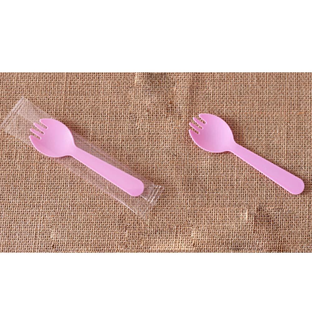 Asien Fourchette Cuill/ère 100Pcs en Plastique /à Usage Unique Dessert Fourchette Thicken g/âteau Fourchette cuill/ère cuill/ère pour la cr/ème glac/ée
