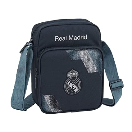 Safta Real Madrid 2 Bolso Bandolera 22 cm, Azul