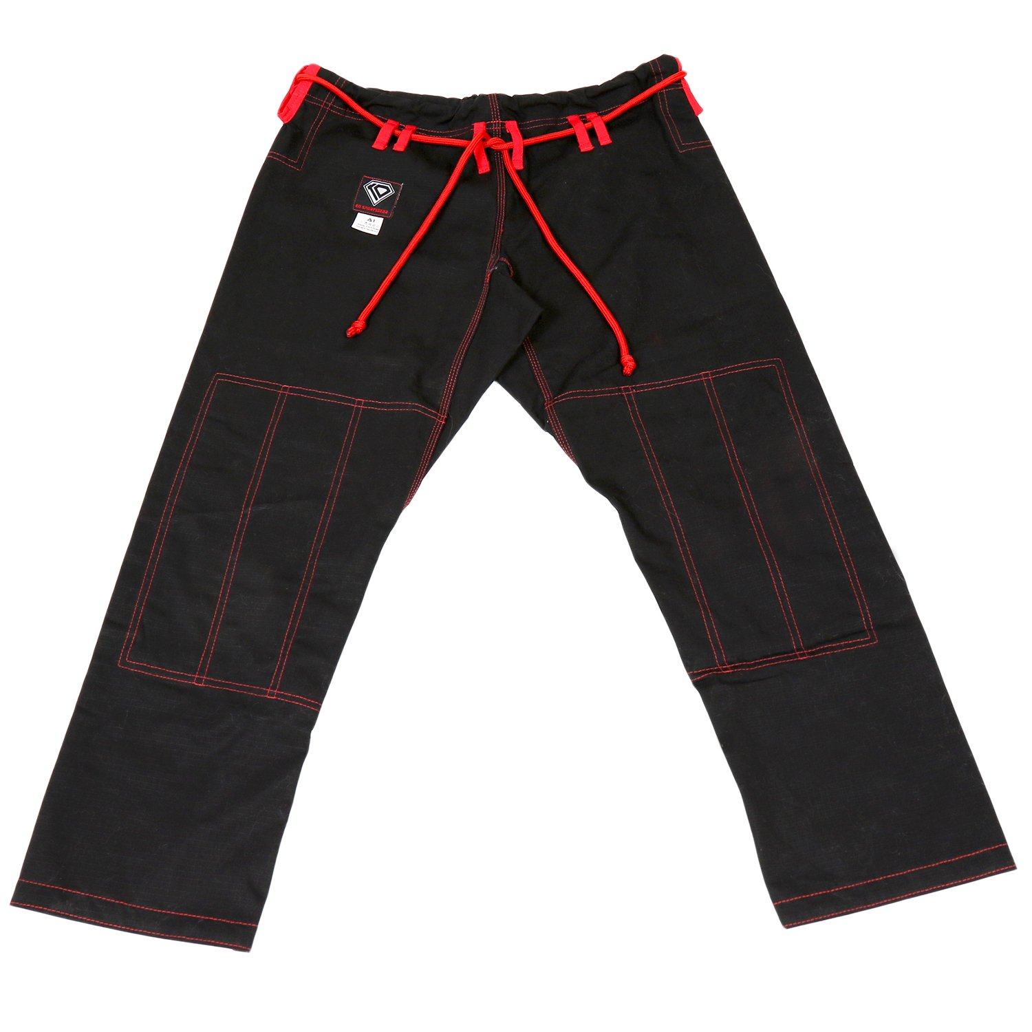 KO Sports Gear's Black Gi Pants - Rip Stop - For Jiu Jitsu (A3) by KO Sports Gear
