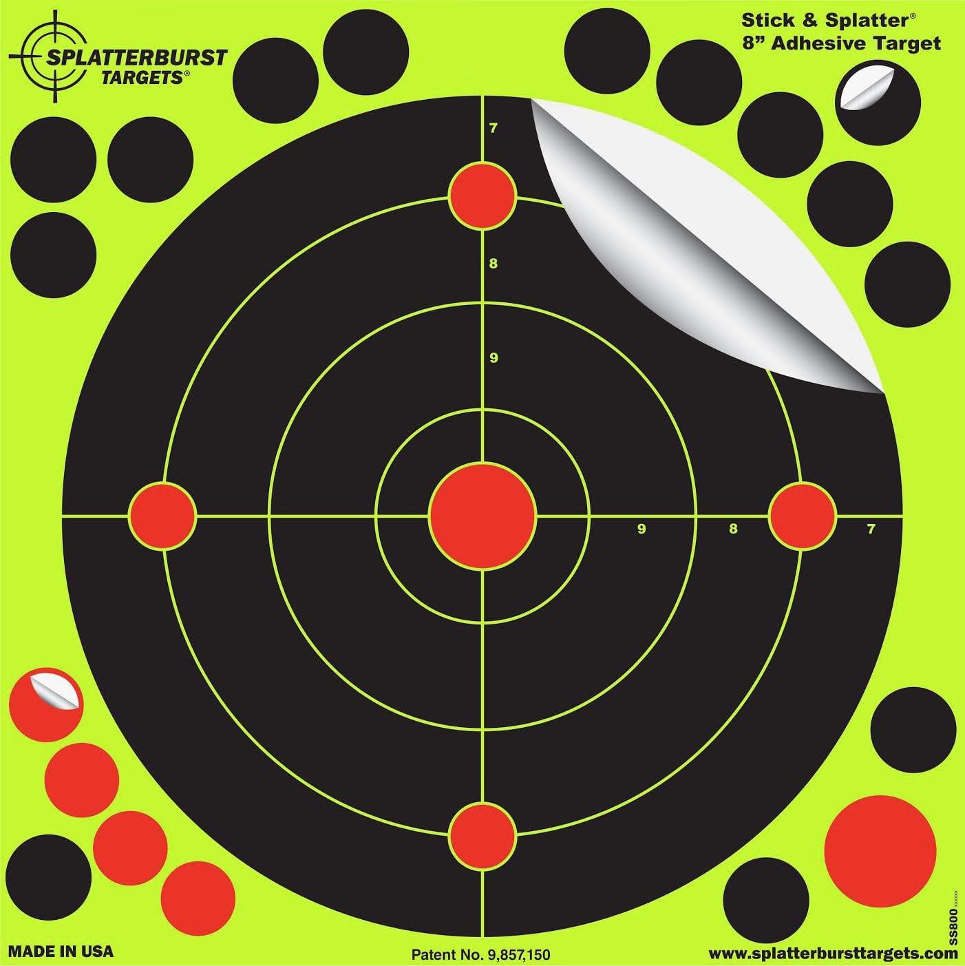 /Pistola/ splatterburst Objetivos/ /Pistola/ /8/Inch Adhesivo Stick /& Salpicaduras reactiva Objetivos de Disparo/ /Rifle/ /BB//&nd /Pistola de Airsoft/