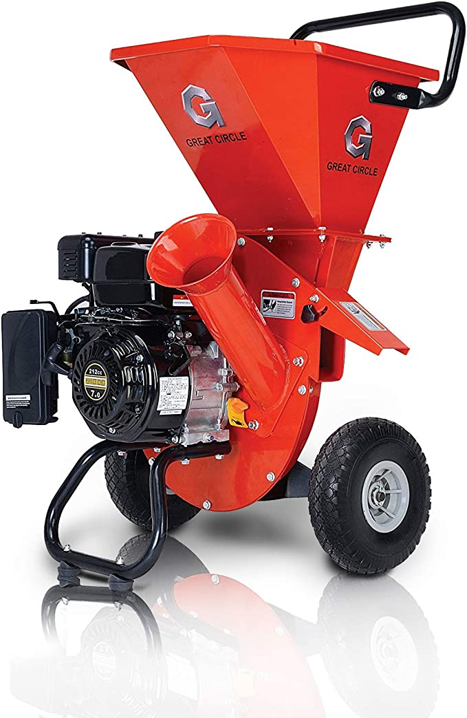 GreatCircleUSA Gas-Powered Wood Chipper Shredder Mulcher – Most Versatile