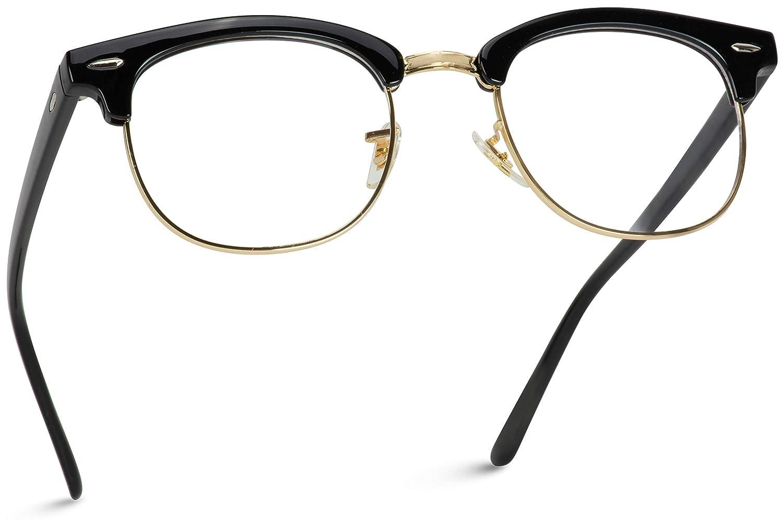 Nerd Half Rimmed Frame // Clear Lens Classic Retro Glasses FREE POST AUS