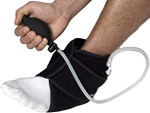 NatraCure Hot/Cold & Air Compression Ankle Brace Support - (6012 CAT) - Helps Stabilize and Relieve Ankle Sprains, Arthritis, Joint Pain, and Sports Injury