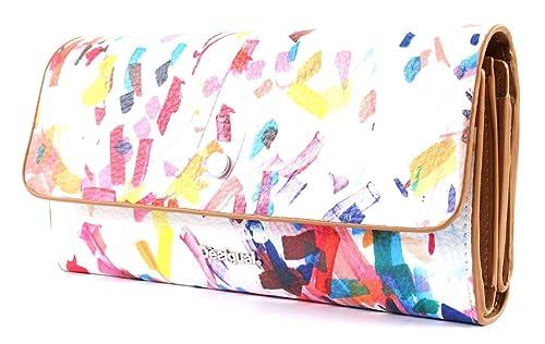 DESIGUAL Confetti Reversible Cartera/Monedero Mujeres Blanco ...