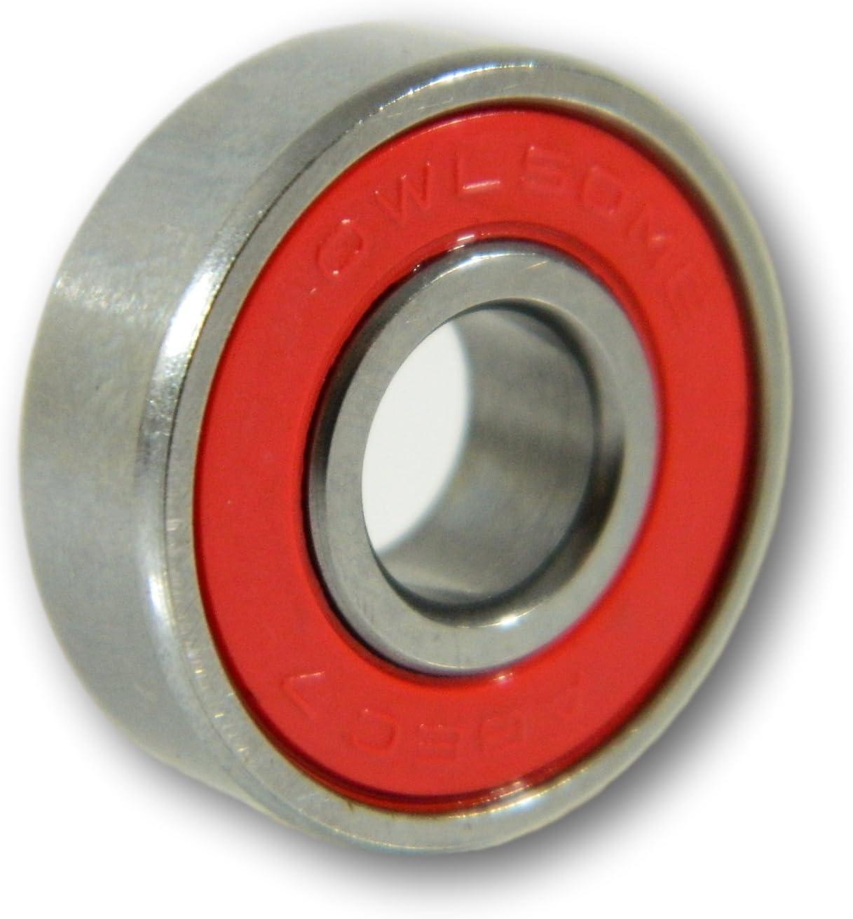 Blank 65mm 82a Neon Orange Cruiser Wheels Owlsome Precison ABEC 7 Bearings