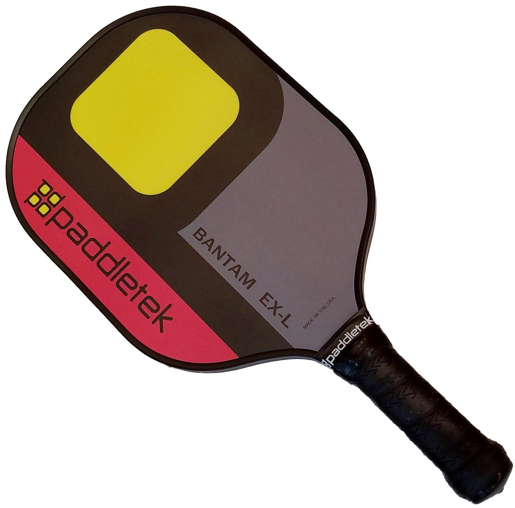 Paddletek Bantam EX-L Pickleball Paddle, Red/Yellow by Paddletek