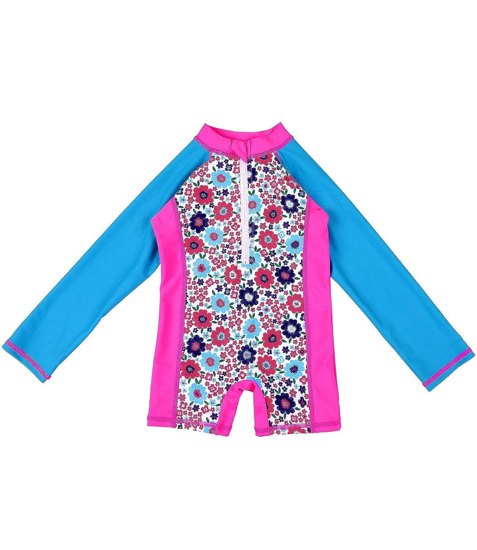Sociala Toddlers Long Sleeve Rash Guard Babies One Piece Swimsuit