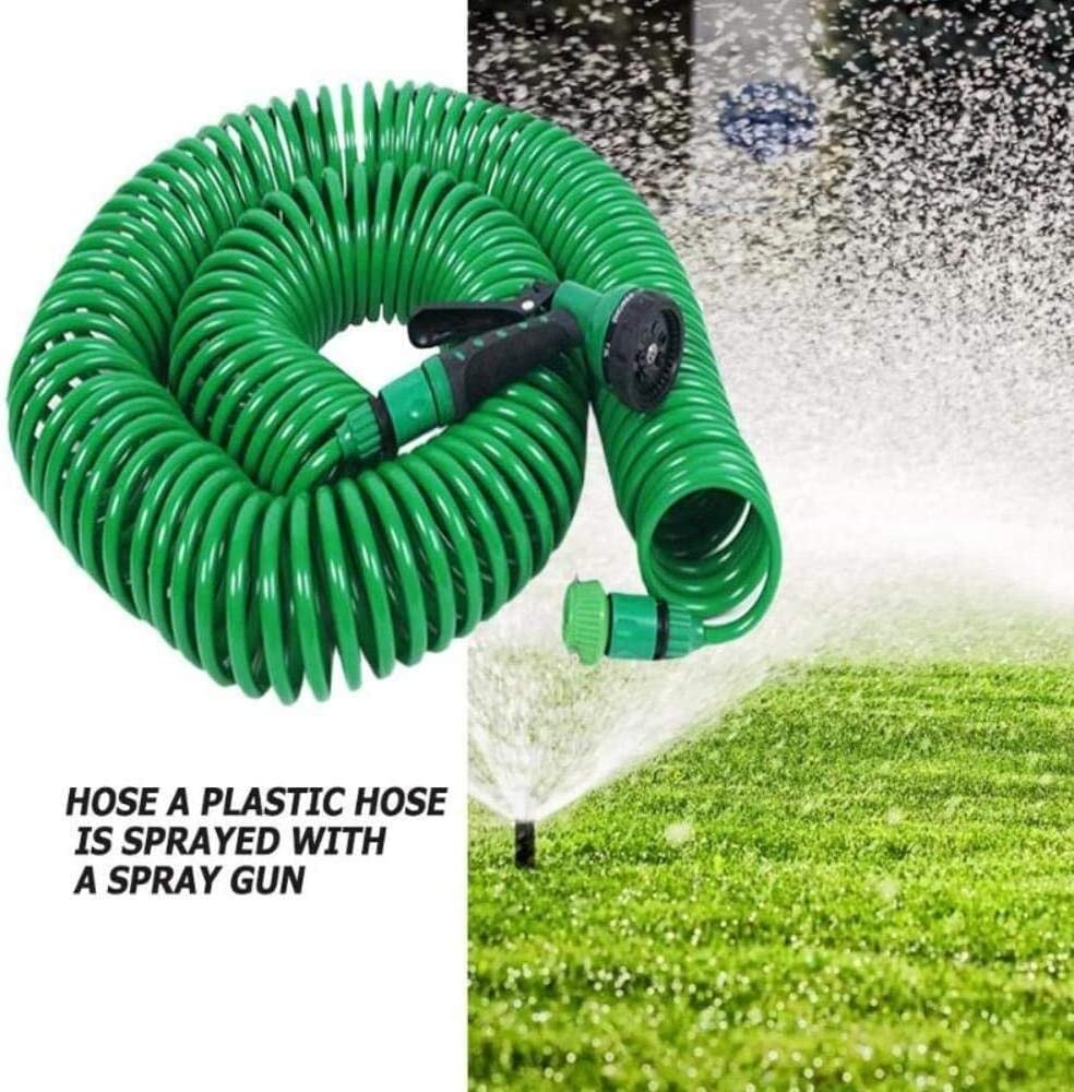 7.5m/15m/30m Expandable Garden Hose Pipe Watering Spray Gun for Car Lawn watering hose Irrigation Kit,15m,Colour Name:7.5m (Color : 15m) 7.5m