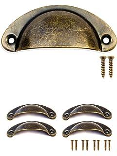 FUXXER   4x Antik Schubladen Griff Muscheln Bronze Eisen Design |  Griff Schalen Für