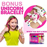 Hair Chalk Birthday Gifts for Girls – Bonus unicorn bracelet –Temporary Hair Chalk Color for Kids – 12 Hair Chalk Pens Set – Perfect Gift Idea for Girls from 3 to 12 Years Old