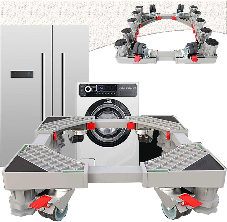 LXYYSG Soporte Lavadora, Base Móvil Ajustable para Lavadora Secadora y Refrigerador Máquina Expendedora, Acero Inoxidable Plataforma con Ruedas, Universal Prueba de Choques Soporte