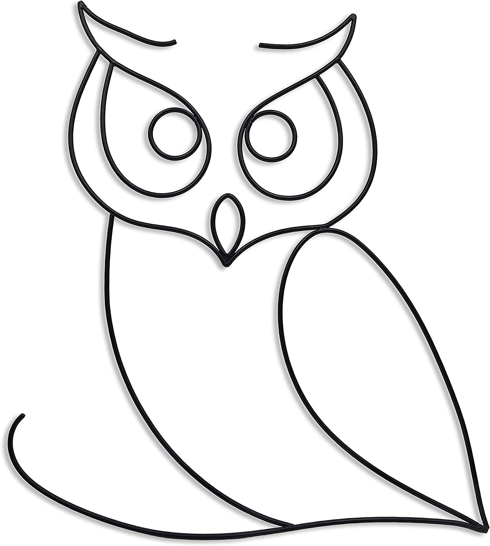 Matani Metal Owl Wall Decor | Owl Wall Art | Metal Wall Art |Boho Room & Living Room Wall Décor (Stare)