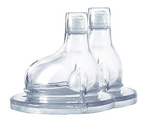 Pura Kiki XL Silicone Sipper Spout, 2/Pack (Plastic Free, NonToxic Certified, BPA Free)
