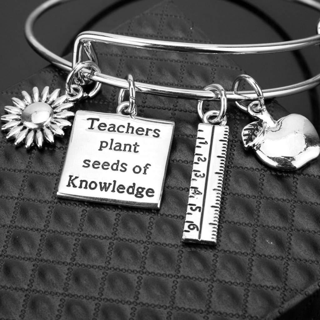 SMUOBT Nurse Gifts Expandable Bangle Bracelets Set Nursing Jewelry Nurse Bracelet Christmas Birthday Graduation Gift for Women Girl