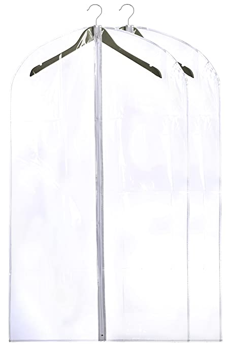 68246087410 Clear Vinyl Garment Bag - Protect Your Clothing While Traveling and Dust  Free While Hanging in