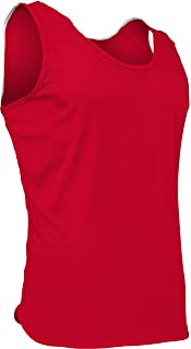 product image for PT-903-CB Men's Athletic Performance Single Ply Light Weight Track Singlet (Small, Red)