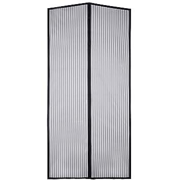 IBS Magnetic Screen Door Bug Screen Mesh Curtain with Full Velcro ...