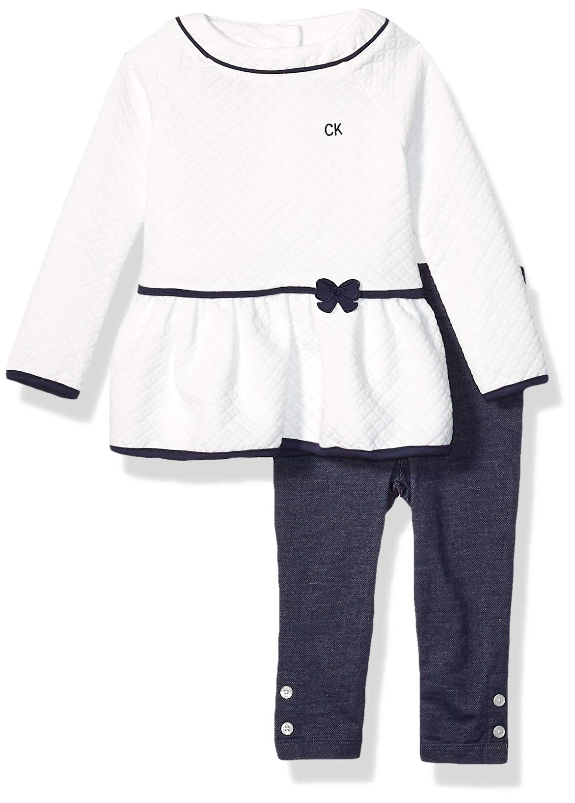 Calvin Klein Baby Girls' 2 Pieces Leggings Set