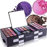 Professional Makeup Palette Set,142 Colors Eye Shadow 3 Colors Blush 3 Colors Eyebrow Powder Makeup Set, Portable…