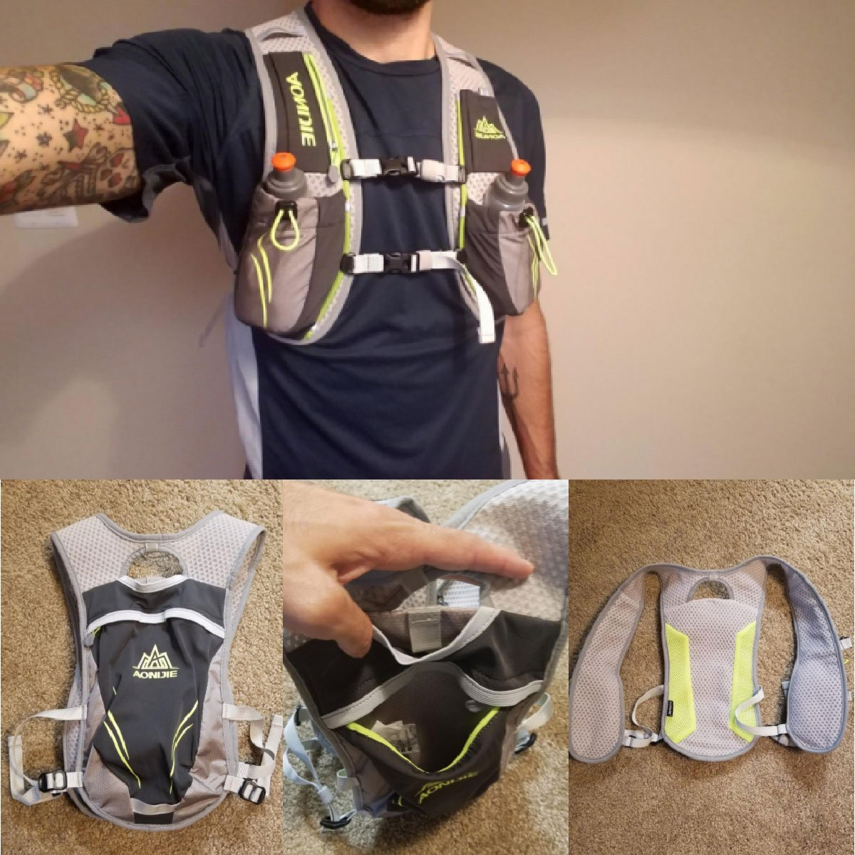 TRIWONDER Hydration Pack Backpack 5.5L Outdoors Mochilas Trail Marathoner Running Race Hydration Vest OS1508