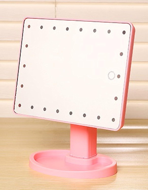 private Twinkle touch screen 22 luci LED specchio per trucco con rimovibile 10 x specchio ingranditore