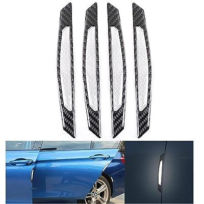COSMOSS Reflective Car Door Edge Trim Sticker (Gray): Automotive